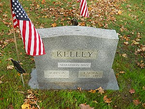 Johnny Kelley - Marathon Man tombstone, East Dennis, Massachusetts, 2010