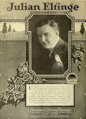 Julian Eltinge - Advertisement (1917)