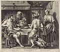 Jupiter en Mercurius in het huis van Philemon en Baucis, RP-P-OB-67.823.jpg