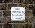 Köln-Marienburg An der Alteburger Mühle 6 Alteburger Mühle Schild Parken.jpg