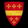 """K-024-Coat of Arms-BEAUCHAMP-Guy de Beauchamp, Earl of Warwick (""""de Warewick le conte Guy"""").png"""