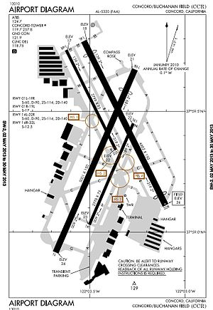 Buchanan Field Airport - Image: KCCR Runway Diagram