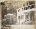 KITLV - 12672 - Sidewalk behind the Government House in Paramaribo - circa 1890.tif