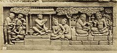 KITLV 40082 - Kassian Céphas - Relief of the hidden base of Borobudur - 1890-1891.jpg