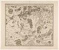 Kaart van de streek in Henegouwen tussen Mons (Bergen), Condé en Maubeuge, waar de slag bij Malplaquet plaatsvond in 1709 Territoire de Mons dans la comté di Hainaut, ou l'on peut voir la victorieuse, RP-P-AO-19-21-2.jpg