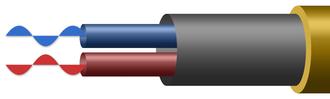 Balanced audio - Image: Kabel Symetrisch