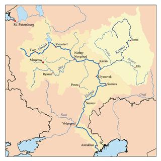 Kama River river in Russia