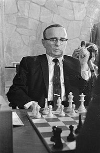 Kandidaten toernooi Kortsjnoi tegen Reskevsky. Reskevesky tijdens wedstrijd (USA), Bestanddeelnr 921-3316.jpg