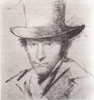 Carl Blechen - Self-portrait (1825)