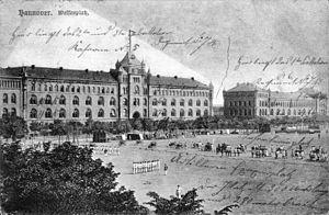 1. Hannoversches Infanterie-Regiment Nr. 74 - Soldiers of the 1. Hannoverschen Infanterie-Regiments Nr. 74 in 1898 on the Welfenplatz in Hannover