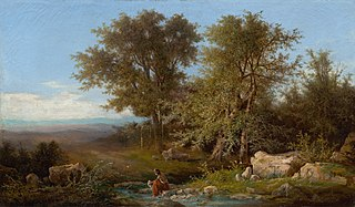 Landscape with a River and Group of Trees