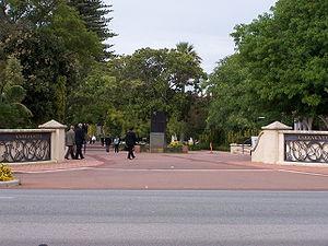 Karrakatta, Western Australia - Main entrance to Karrakatta Cemetery
