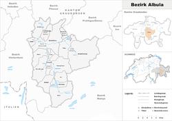 Vị trí của Huyện Albula