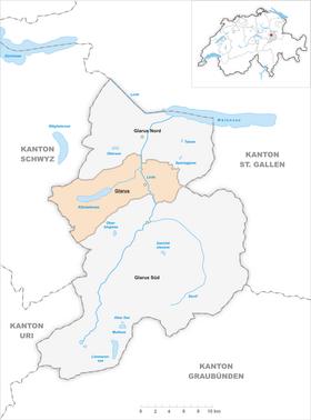 Karte Gemeinde Glarus 2011