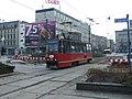 Katowice, Rynek, pohled na třídu Aleje Wojciecha Korfantego.JPG