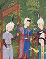 Kay Khusraw Welcomed by his Grandfather, Kay Kaus, King of Iran - detail 02.jpg
