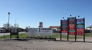 Keenesburg, Colorado - Signs along Market Street in Keenesburg.