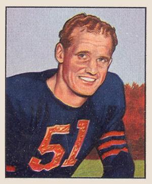 Ken Kavanaugh - Kavanaugh's 1950 Bowman football card