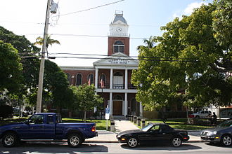 Monroe County, Florida - Image: Key West, FL, Courthouse, Monroe County, North Side, 11 22 2010 (15)