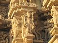 Khajuraho India, DulaDeo Temple, Nandi and other Sculptures Outer Wall- Photographed 10-March-2012.JPG