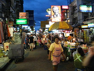 Khaosan Road - Khaosan Road at night
