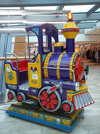 Kiddie ride - A train kiddie ride