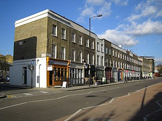 Caledonian Road, London - The Caledonian Road at the junction with Northdown Road