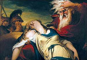King Lear mourns Cordelia's death