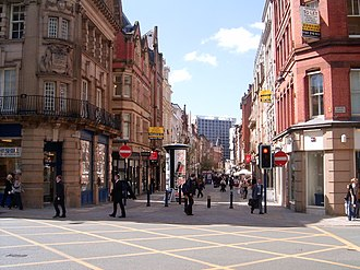 King Street, Manchester - Looking down King Street towards the River Irwell