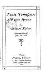 Rudyard Kipling: Trois Troupiers et autres histoires