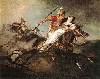 Battle of Kerlés - Duke Ladislaus (left) at the Battle of Kerlés
