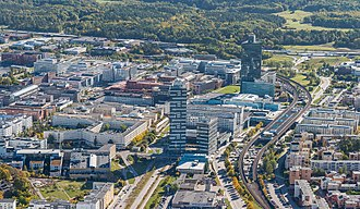 Kista - Aerial overview of central Kista