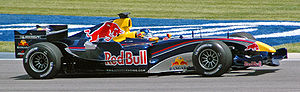 Red Bull Racing - Christian Klien during free practice at the 2005 United States Grand Prix