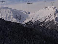 Widok na Kondracką Przełęcz z okolic Diabełka