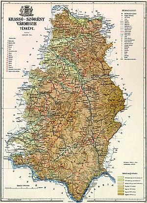 Krassó-Szörény County - Krassó-Szörény County, c. 1910