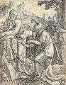 Kristus pokoušen ďáblem (Lucas van Leyden), Národní galerie v Praze.jpg