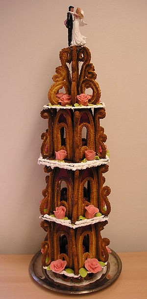 Confectionery - This Kransekake is a traditional Scandinavian baker's confection.