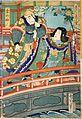 Kume-no-Sen'nin & Kiku-Judou by Kunichika Toyohara 1866.jpg