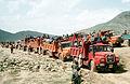 Kurdish refugees travel by truck, Turkey, 1991.jpeg