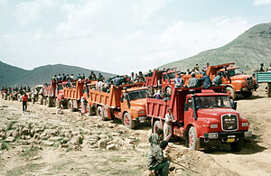Refugees of Iraq -  Iraqi Kurds fleeing to Turkey in April 1991, during the Gulf War