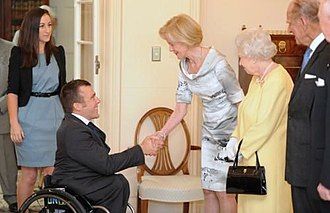 Kurt Fearnley - Fearnley meets Quentin Bryce and The Queen at Government House, Canberra, in 2011