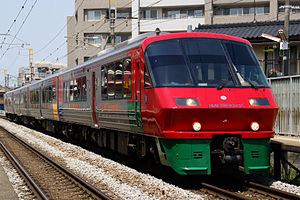 Kyushu Railway - Series 783 - Huis Ten Bosch Color - 01.JPG