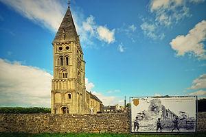 Colleville-sur-Mer - Image: L'église Notre Dame de l'Assomption de Colleville