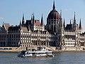 Lánchíd (ship, 1986), Hungarian Parliament Building from across the Danube, 2013 Budapest (495) (12824125403).jpg