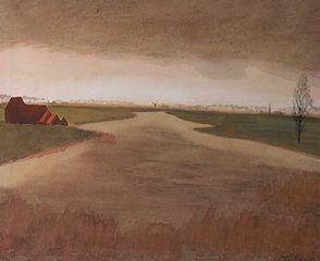Landschap-Keignaertkreek te Zandvoorde