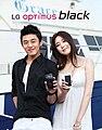 LG전자 옵티머스 블랙 광고 촬영 사진 모음- 김사랑 & 유아인 (4).jpg