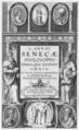 L Annaei Senecae philosophi Opera, quae exstant omnia, a Iusto Lipsio emendata, et scholijs illustrata, 1615, title page.png