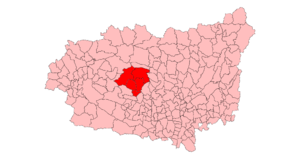 La Cepeda - Location of La Cepeda region in the Province of León