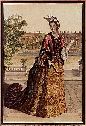 Train (clothing) - Image: La Comtesse de Mailly (ca. 1698)