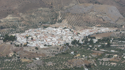 Panoramic of La Guardia de Jaén and her castle.